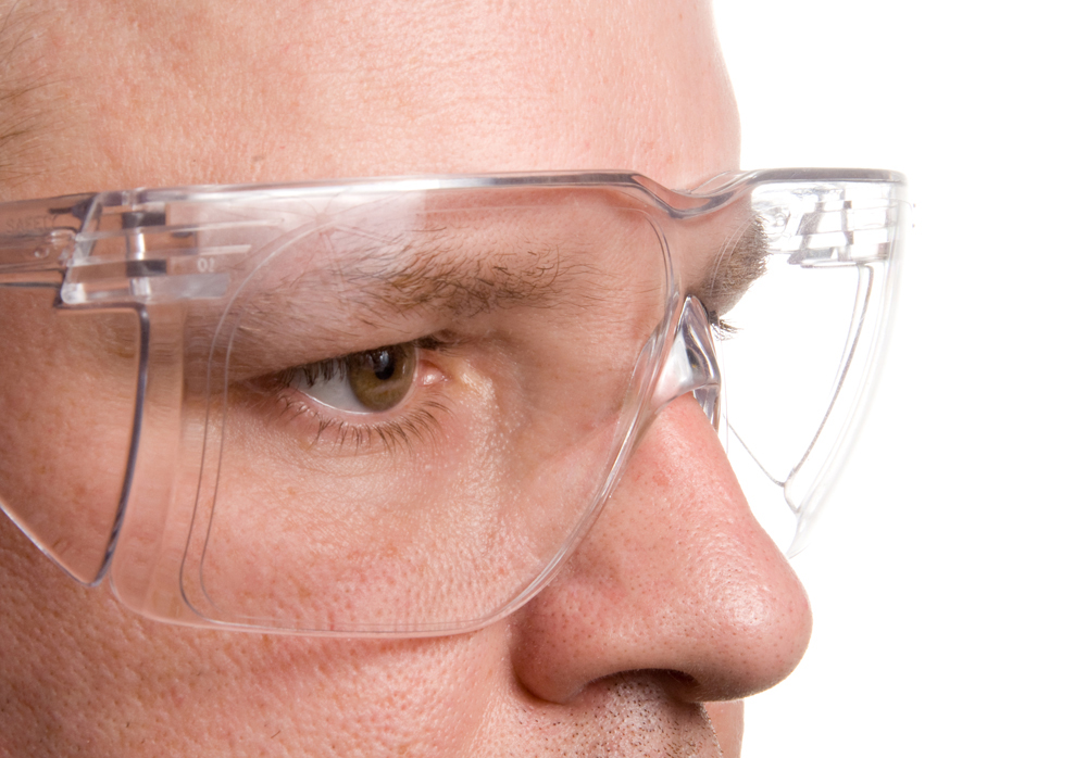 Man wearing Safety Prescription Glasses while he works.